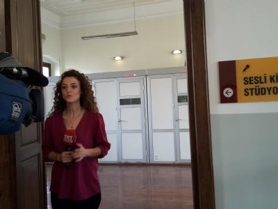 TRT Haber ekibi kütüphanemizi haber yapti
